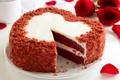 Картинка сладость, торт, крем, выпечка, торт сердце, цветы розы