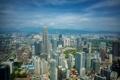 Картинка Malaysia, здания, Куала-Лумпур, Kuala Lumpur, Petronas Towers, небоскрёбы, панорама