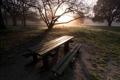 Картинка Природа, стол, солнце, скамейка