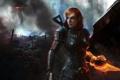 Картинка игра, развалины, броня, game, Шепард, Mass Effect 3, Shepard