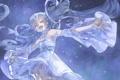 Картинка vocaloid, небо, ночь, mizutamari tori, звезды, девушка, арт