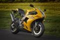 Картинка желтый, мотоцикл, суперспорт, вид спереди, bike, yellow, EBR