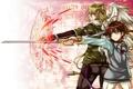 Картинка оружие, крылья, меч, аниме, арт, парни, ame gatsu