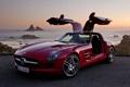 Картинка авто, красный, ретро