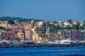 Картинка море, небо, деревья, дома, яхта, Италия, гавань