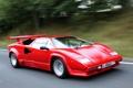 Картинка авто, красный, Lamborghini, red, speed, Countach, LP5000