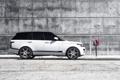 Картинка белый, профиль, white, land rover, range rover, ренж ровер, ленд ровер