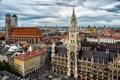 Картинка небо, тучи, люди, пасмурно, здания, дома, Германия