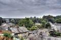 Картинка деревья, мост, HDR, дома, деревня, Великобритания, Village