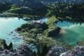 Картинка лес, вода, деревья, горы, Озеро