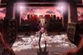Картинка vocaloid, kagamine rin, солнце, музыкальные инструменты, девушка, динамики, руины