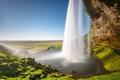 Картинка пейзаж, природа, скала, река, водопад, грот