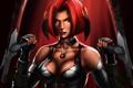 Картинка грудь, девушка, лезвие, вампир, рыжая, bloodrayne