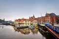 Картинка мост, дома, лодки, канал, амстердам, nederland, amsterdam