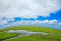 Картинка трава, вода, облака, природа, фото, луг, речка