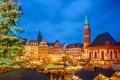 Картинка киоски, Рождество, елка, рынок, люди, Deutschland, Франкфурт-на-Майне