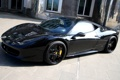 Картинка тюнинг, черная, вид спереди, Black, Ferrari 458 Italia, Anderson Germany, Carbon Edition