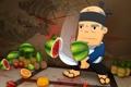 Картинка меч, фрукты, Fruit Ninja