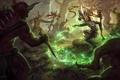 Картинка лес, witch doctor, шаман, арт, магия, diablo 3, демоны