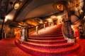 Картинка свет, красное, Чикаго, красиво, лестница, поручни, Театр