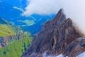 Картинка горы, Италия, дома, Альпы, облака