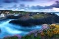 Картинка природа, камни, небо, море, туман