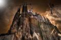 Картинка Barcelona, Sagrada Familia, Extreme Backlight
