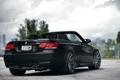 Картинка черный, бмв, BMW, кабриолет, Series, vossen