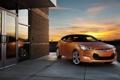 Картинка закат, отражение, Hyundai, Veloster