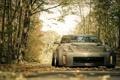 Картинка дорога, осень, Nissan, 350z