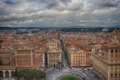 Картинка небо, площадь Венеции, Рим, панорама, дома, улицы, Италия