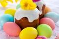 Картинка яйца, Пасха, cake, кулич, flowers, выпечка, глазурь