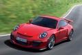 Картинка дорога, авто, фары, Porsche, передок, 911 GT3