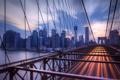 Картинка город, NYC, Brooklyn Bridge