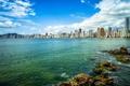 Картинка море, пейзаж, побережье, дома, Бразилия, Santa Catarina