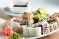 Картинка еда, рис, роллы, васаби, японская кухня, имбирь, соевый соус