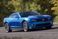 Картинка Авто, Синий, Chevrolet, Машина, Camaro, Фары, Купэ