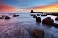 Картинка Coast, Sunrise, Saltwick Bay, sunrise
