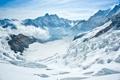 Картинка зима, солнце, снег, горы