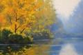 Картинка арт, artsaus, still waters, рисунок