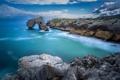 Картинка море, пейзаж, скалы, Asturias, Castro de las Gaviotas