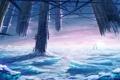 Картинка лед, город, фантастика, здания