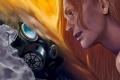 Картинка арт, противогаз, парни, романтика апокалипсиса, romantically apocalyptic, alexiuss, Mirror mirror