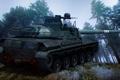 Картинка деревья, холм, танк, World of Tanks, французский, AMX 30B