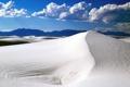 Картинка песок, облака, лучи, пейзаж, горы, пустыня