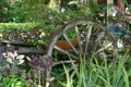 Картинка лето, ландшафт, сад, телега, декор, оформление
