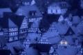 Картинка сумерки, ночь, вечер, окна, шифер, город, крыши