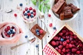 Картинка десерт, черника, пирог, малина, ягоды