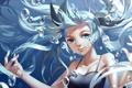Картинка девушка, пузырьки, арт, vocaloid, hatsune miku, под водой, хвостики