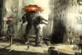 Картинка город, оружие, фон, люди, фантастика, обои, рисунок